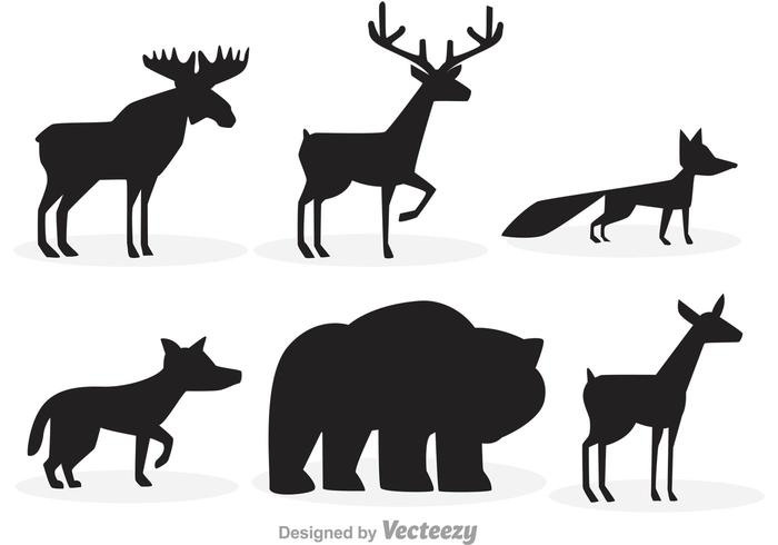 700x490 Forest Animal Silhouettes