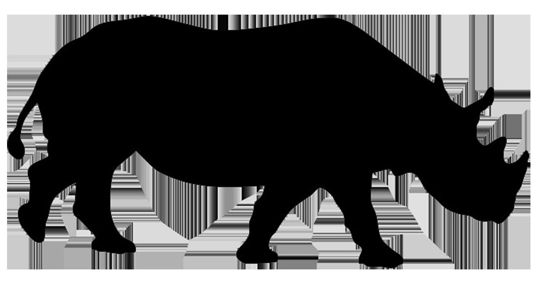 1063x557 Free Rhino Silhouette Clipart