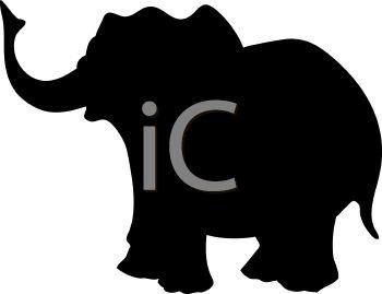 350x269 Animal Silhouette Of A Cartoon Elephant