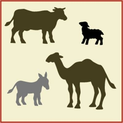 400x400 Nativity Animals Stencil Diy Nativity Scene Manger Christmas