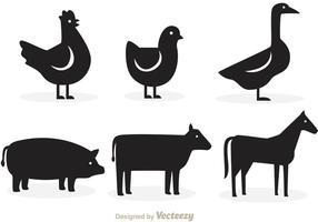 286x200 Animal Silhouette Free Vector Art
