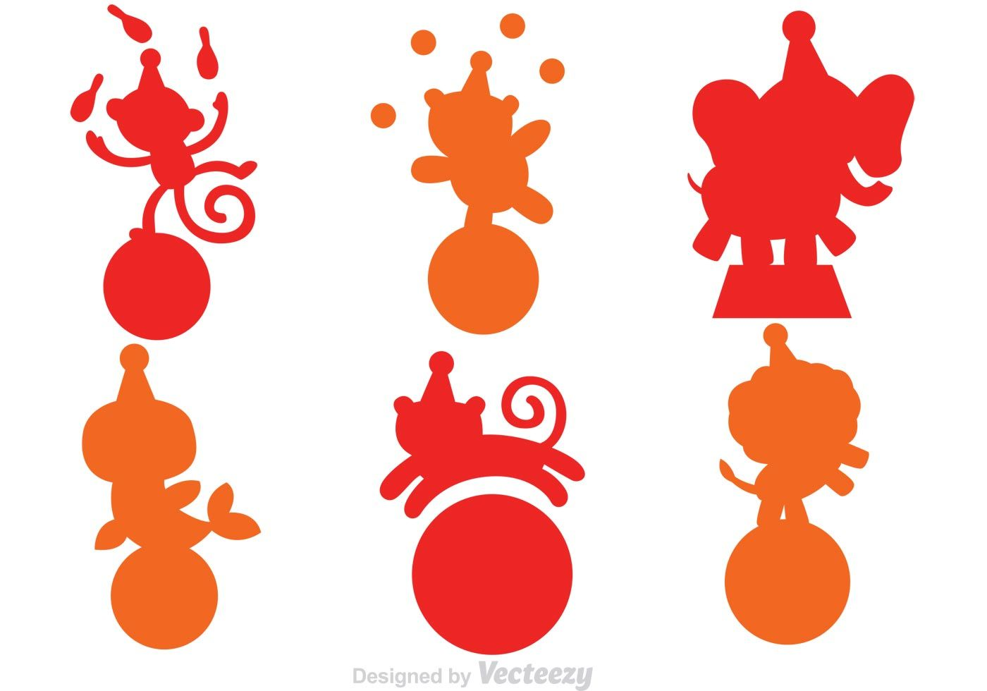 1400x980 Collection Of Animal Playing Circus In Silhouette Form