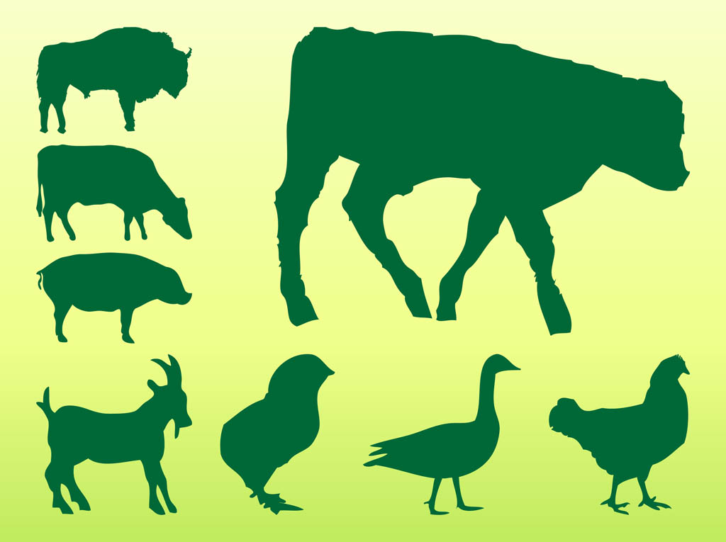 1024x765 Farm Animals Silhouettes Vector Art Amp Graphics