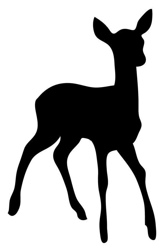 563x864 Fawn Silhouette Cut Vinyl Decal By Wilsongraphics On Etsy