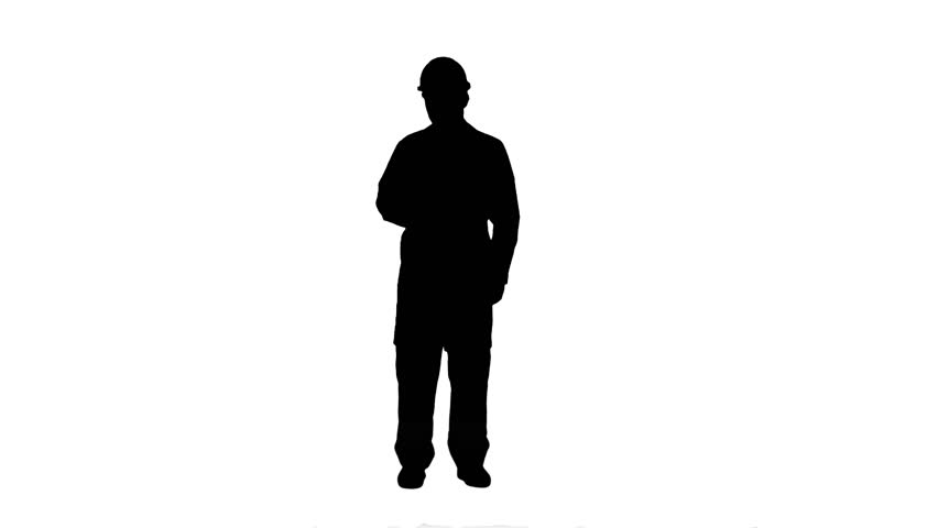 852x480 Animated Silhouette Of A Man Walking Into The Camera With Alpha