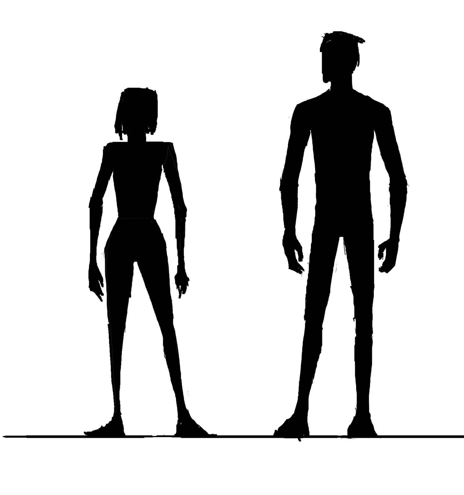 1497x1600 Male And Female Silhouette Clipart