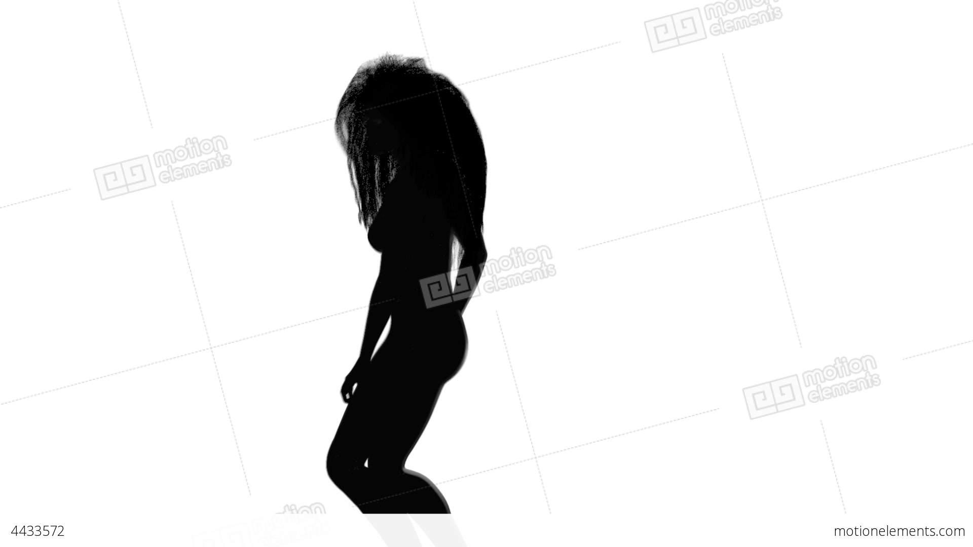 1920x1080 Dancing Girl Silhouette Stock Animation 4433572
