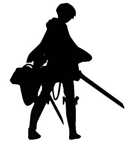 265x300 Attack on Titan Anime Levi Ackerman Silhouette 4