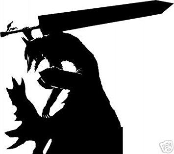 355x314 Berserk Anime Gut Wolf Armor Silhouette Stickers