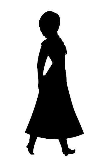 374x547 Anna Silhouette Instant Download Svg Diy