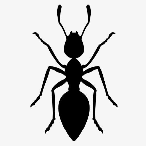 512x512 Ants Silhouette, Insect, Animal, Projection Png Image And Clipart