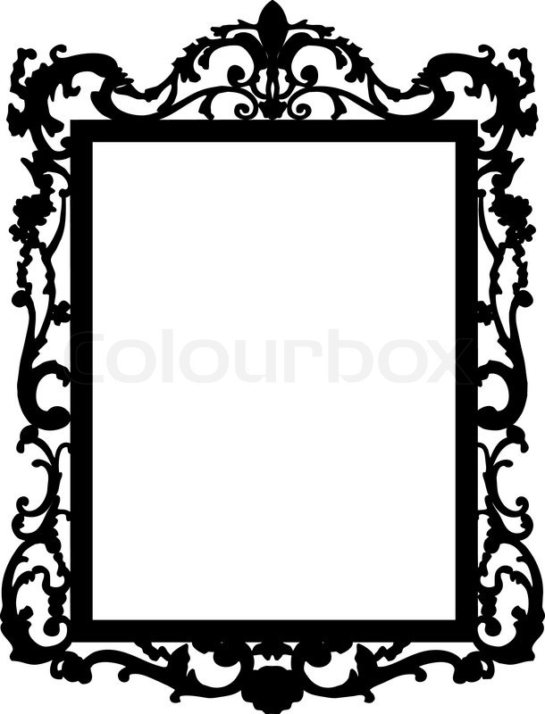 610x800 White Baroque Picture Frame Choice Image