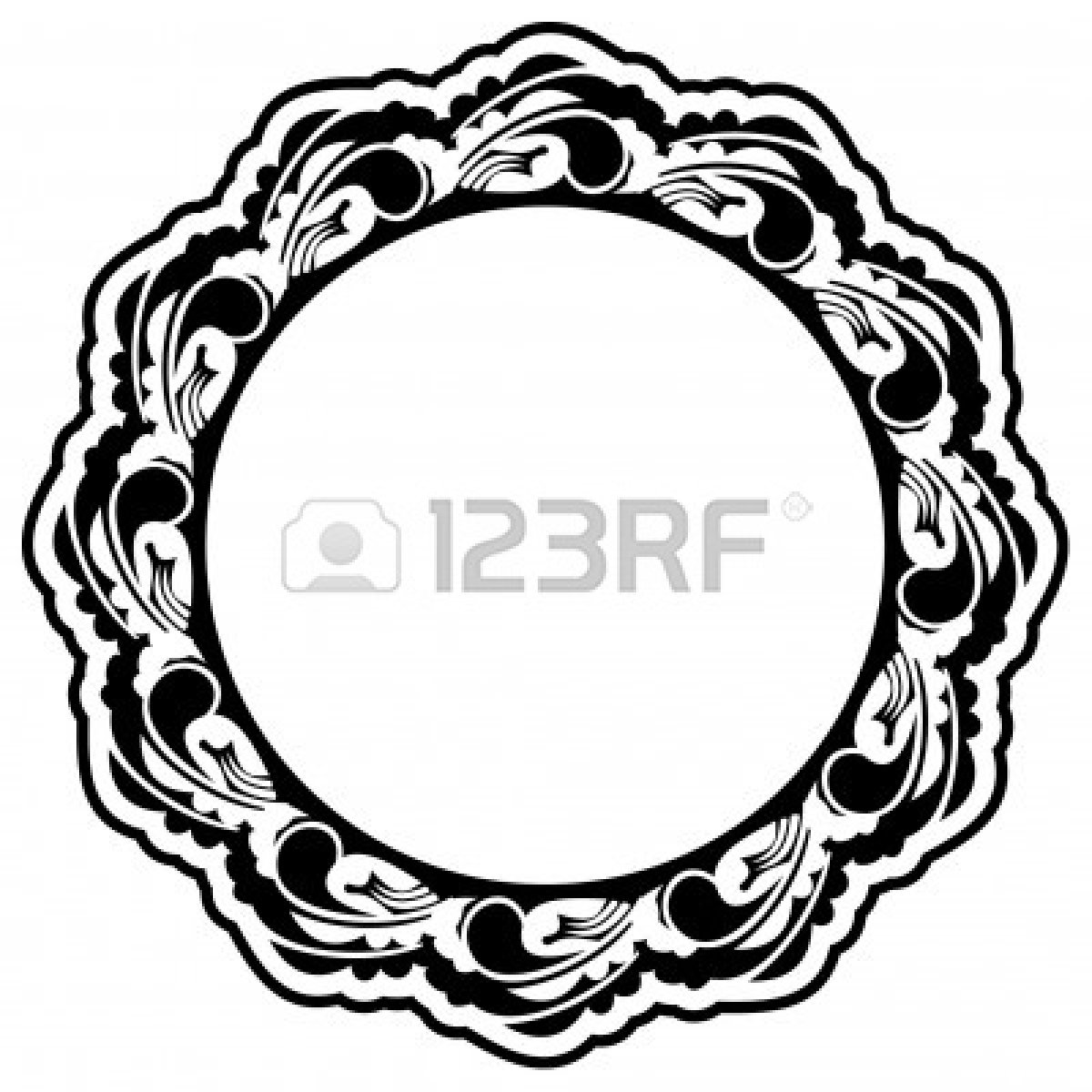 1200x1200 Antique Oval Frame Silhouette Clipart Panda
