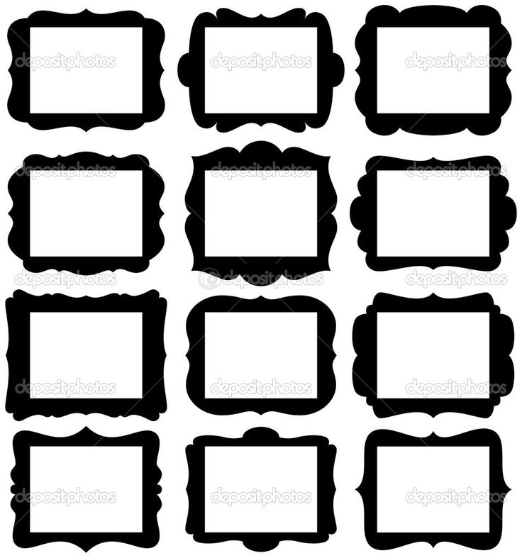 736x787 Clipart Silhouette Frame Collection
