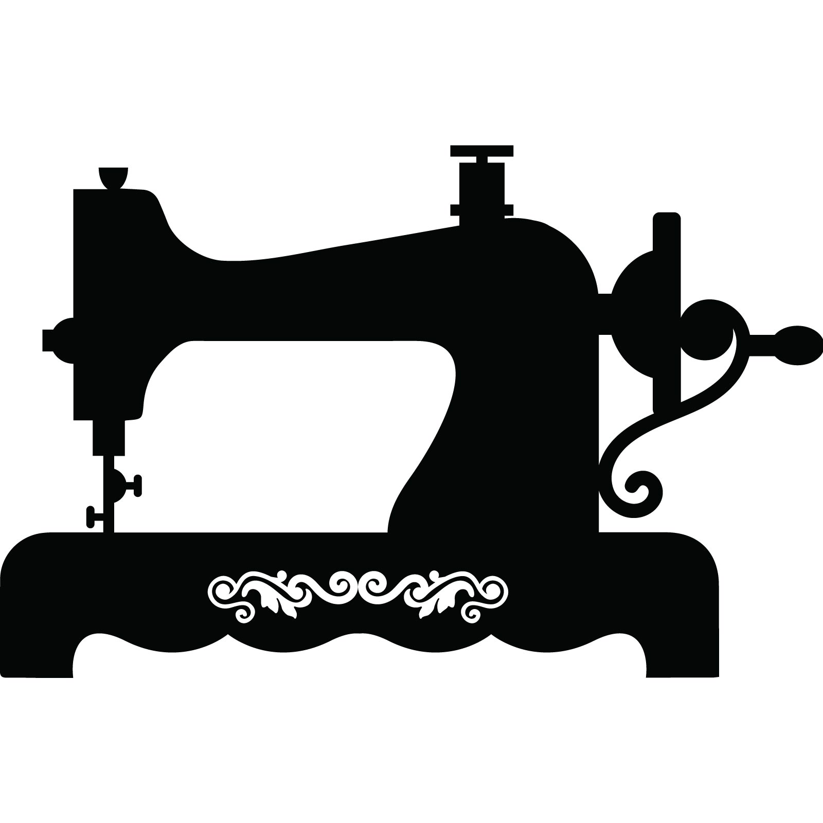 1600x1600 Clipart Silhouette Vintage Sewing Machine