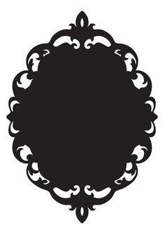 236x331 Baroque Frame Silhouette Testere 2