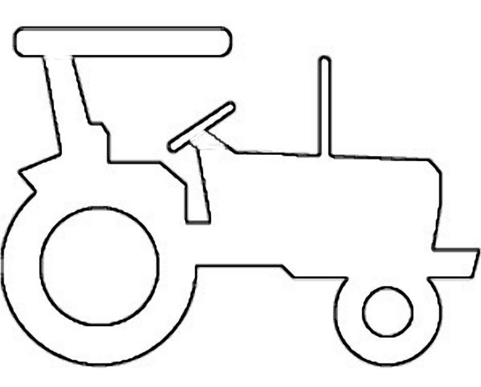 938x755 Antique Tractor Outline