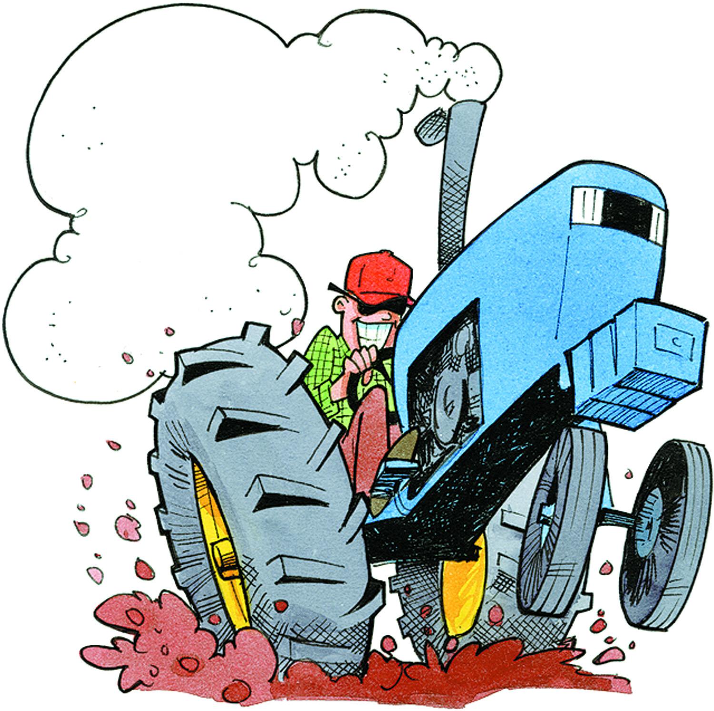 1500x1493 Antique Tractors Clipart