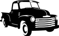 Antique Truck Silhouette