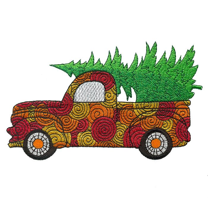 700x700 Christmas Tree Delivery Truck M Magic Stock Art