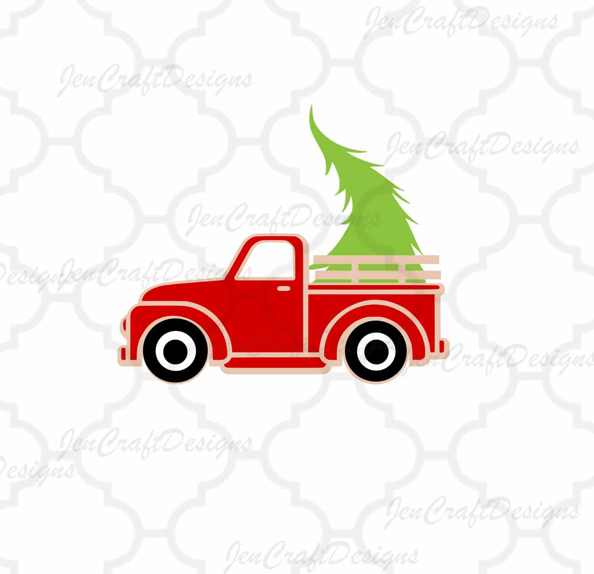 Christmas Tree Truck Svg Free.Antique Truck Silhouette At Getdrawings Com Free For