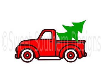 340x270 Christmas Truck Svg Etsy