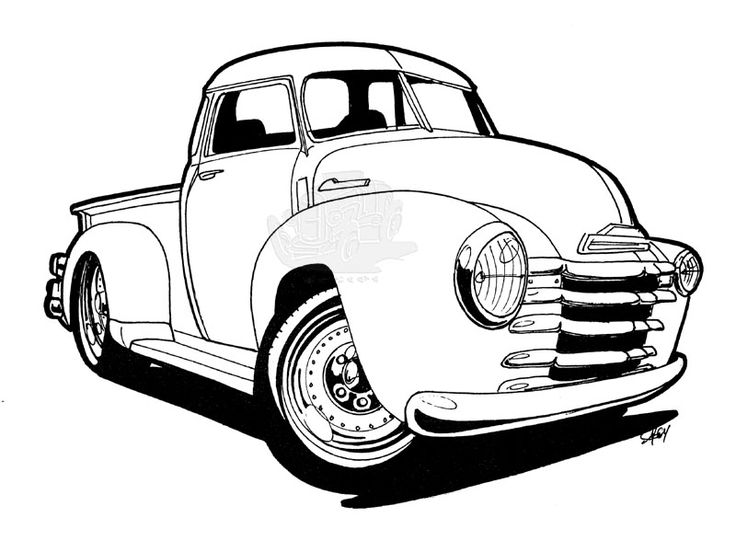 736x552 Cool Muscle Cartoon Cars Download Hot Rod Coloring Pages