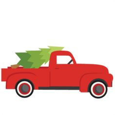 236x236 Old Truck Christmas Tree Free Svg, Png, Eps Amp Dxf Download