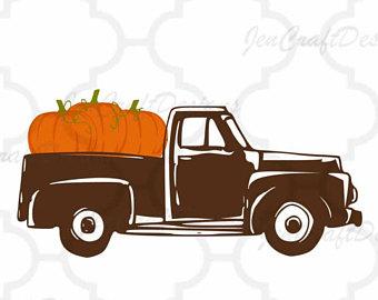 340x270 Pumpkin Truck Svg Etsy