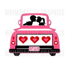 236x236 Wg268 Antique Truck Valentines Antique Trucks, Cricut Design
