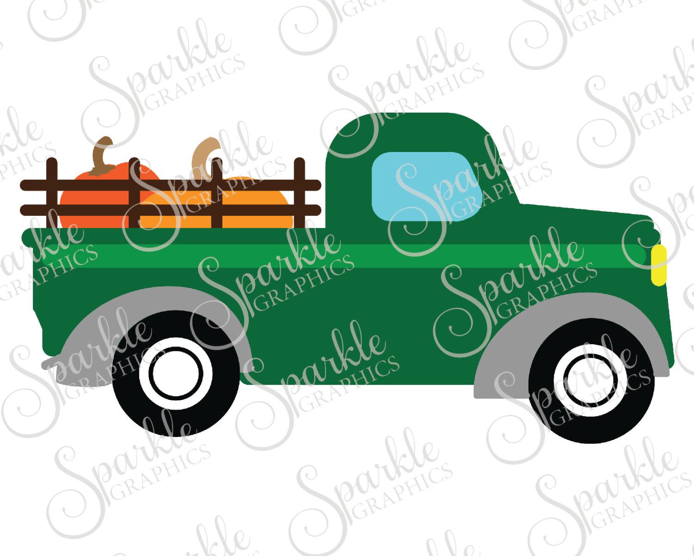 1500x1200 Antique Truck Cut File Fall Svg October Svg Pumpkin Vintage