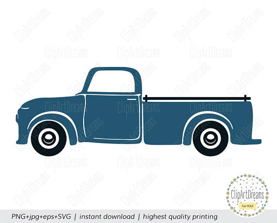 Antique Truck Silhouette at GetDrawings.com | Free for personal use ...