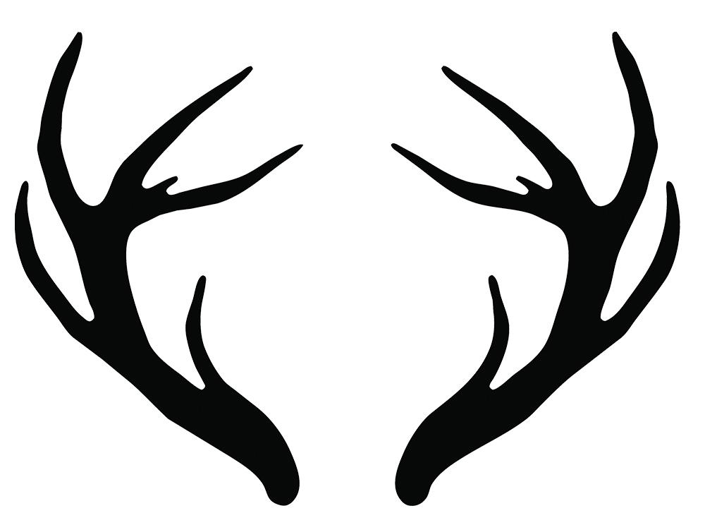 antler silhouette at getdrawings com free for personal use antler
