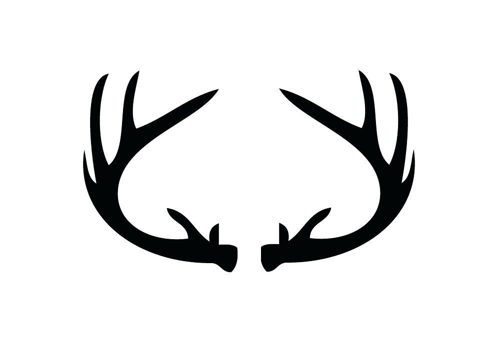 994x719 Deer Antler Silhouette Deer Antler Silhouette Free