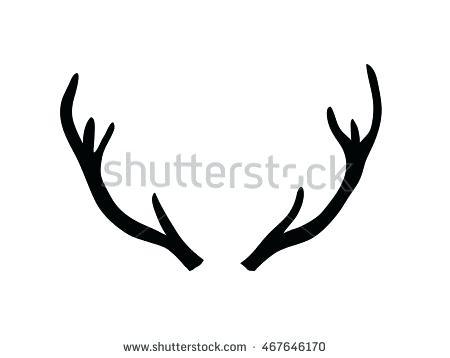 450x358 Deer Antler Silhouette Vect Illustrati Deer Antler Silhouette Clip