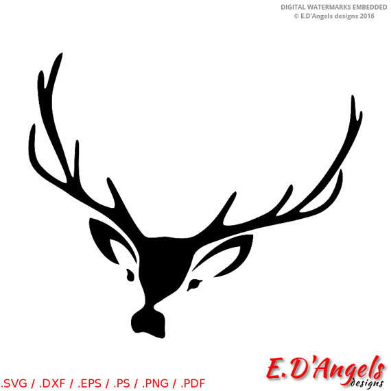 570x570 Deer Antlers Svg, Svg Files For Cricut, Files For Silhouette