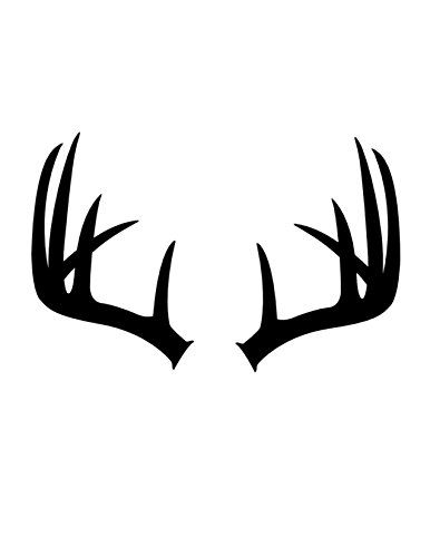 386x500 Pack Of 3 Antlers Stencils Cut From 4 Ply Mat Board, 11x1 Https