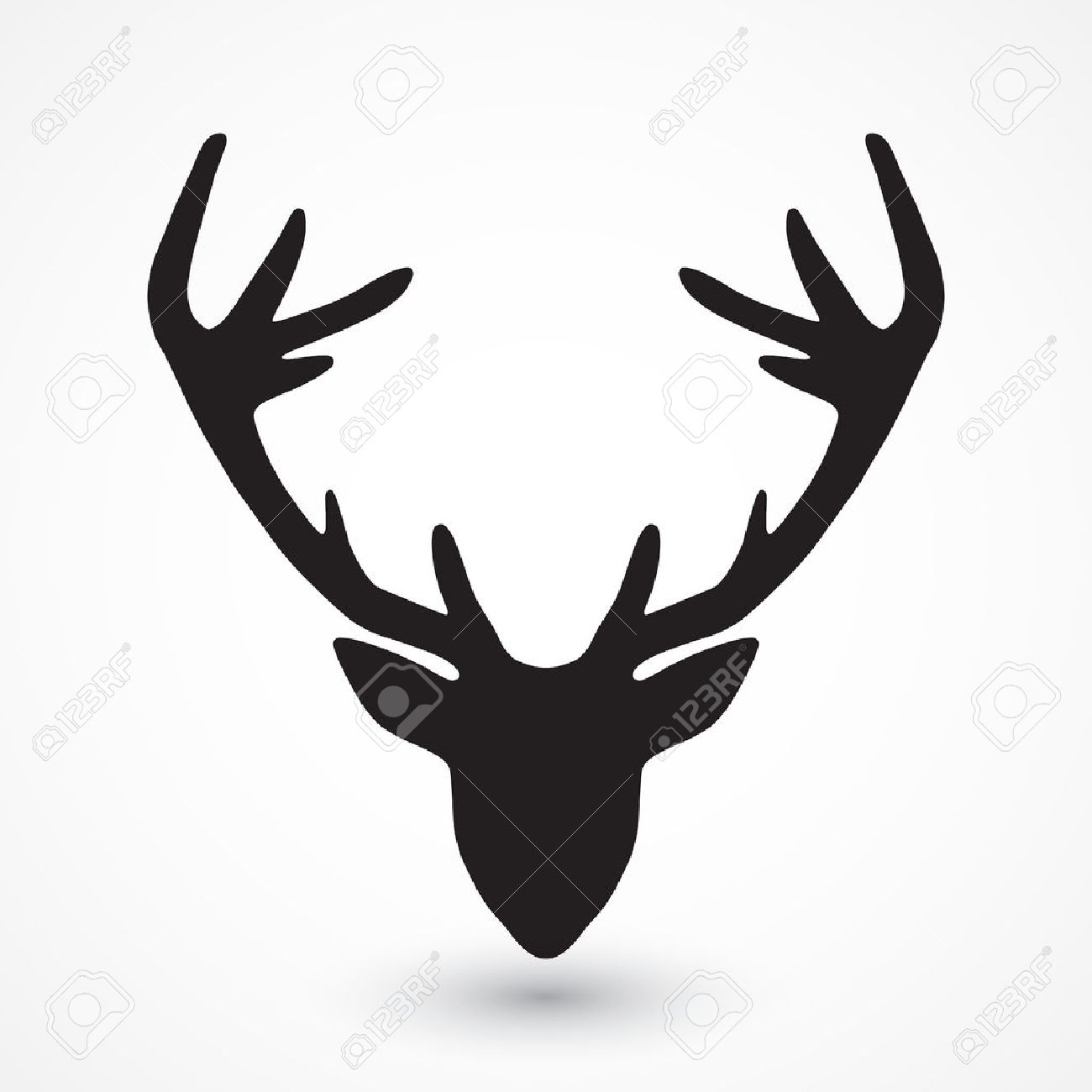 1300x1300 Deer Head Silhouette Royalty Free Cliparts Vectors And Stock Fair