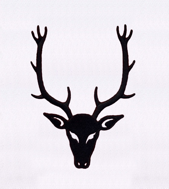 560x625 Deer With Large Antlers Silhouette Embroidery Design Embmall