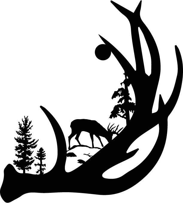 612x678 Hunting Clipart Deer Antler
