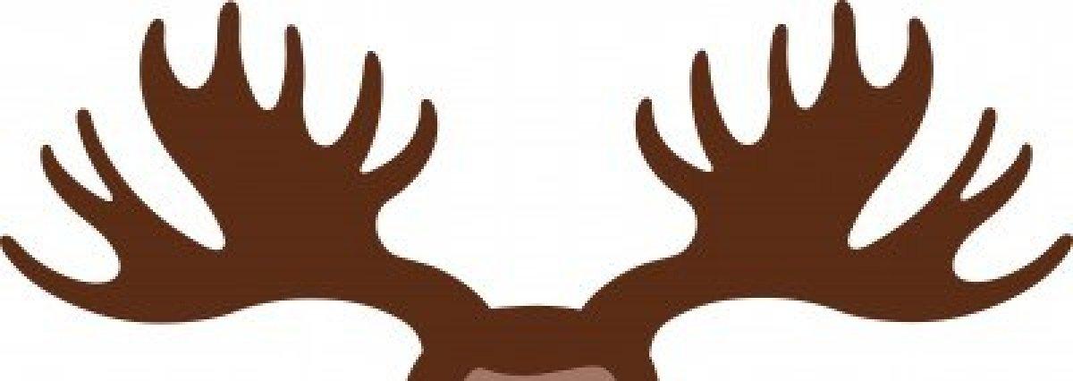 1200x426 Moose Antlers Silhouette