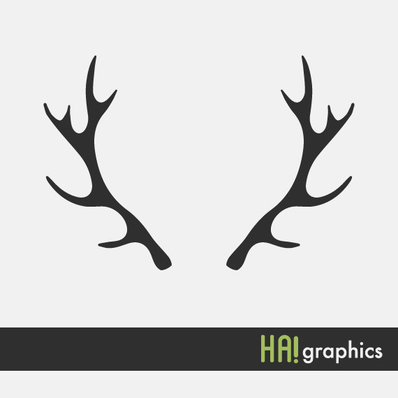 570x570 Svg And Dxf File Deer Antlers Silhouettes Clipart