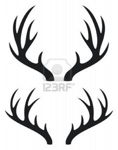 236x300 Black Silhouette Of Deer Antlers Use These Free Images For Your