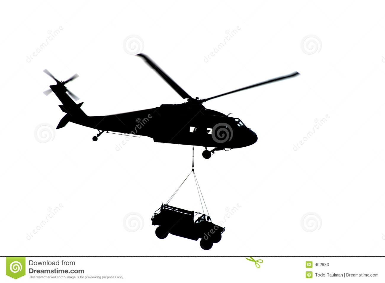 Apache Helicopter Silhouette
