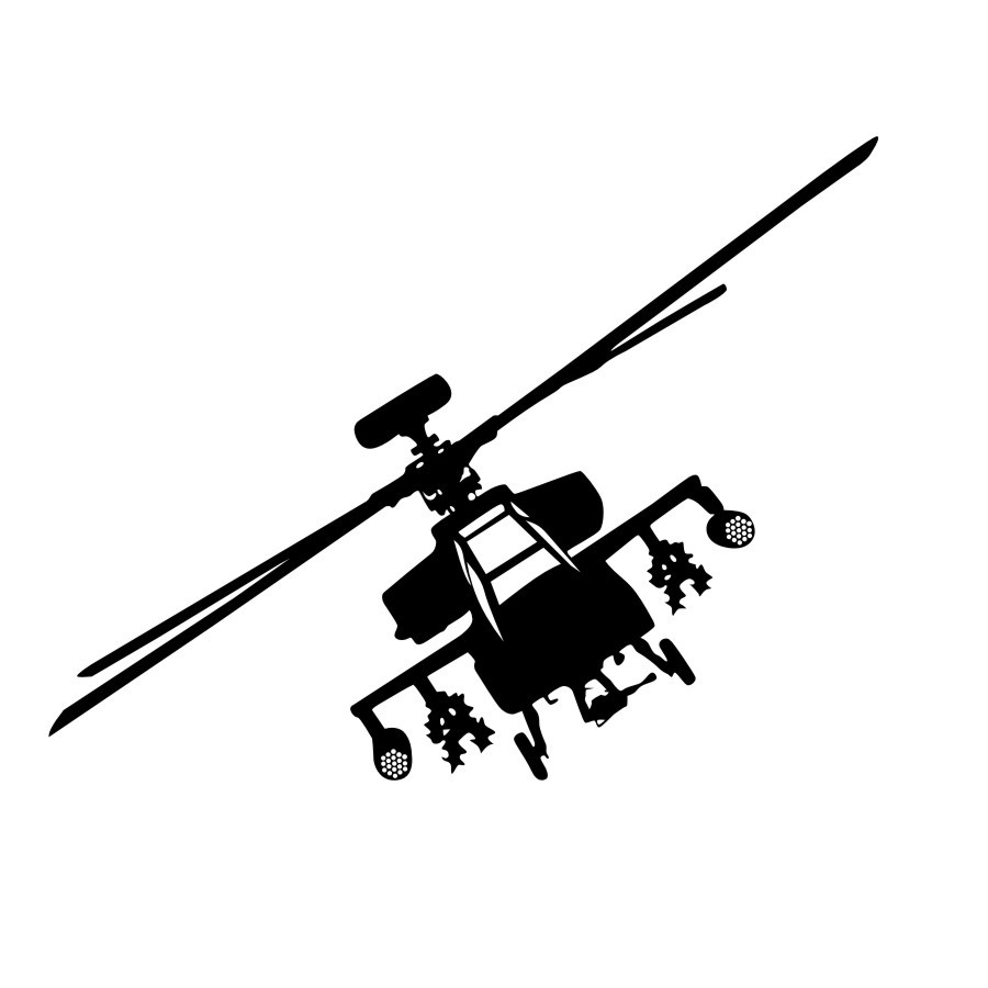 900x900 Free Shipping Army Military Helicopter Silhouette Wall Decal Art