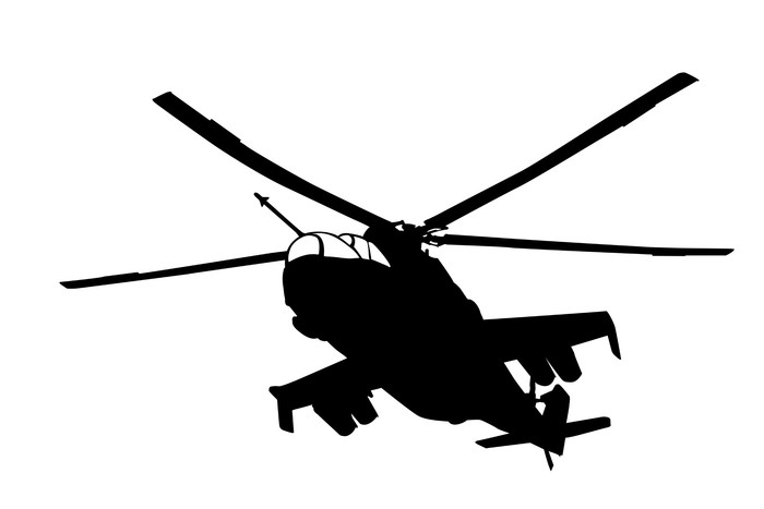 700x467 Mi 24 (Hind) Helicopter Silhouette Wall Mural We Live