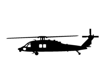 340x270 Silhouette, Helicopter, Flying Illustration