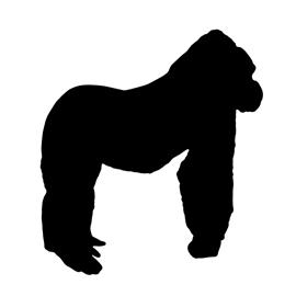 270x270 Gorilla Silhouette Stencil Free Stencil Gallery