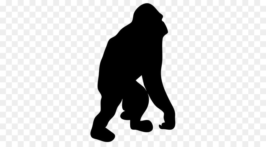 900x500 Ape Primate Silhouette Clip Art