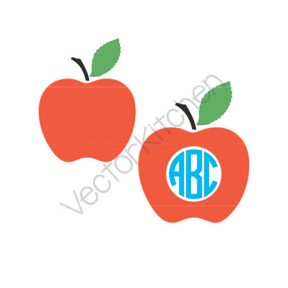 570x570 Apple Monogram Frame And Normal Design Cutting Template Svg Eps
